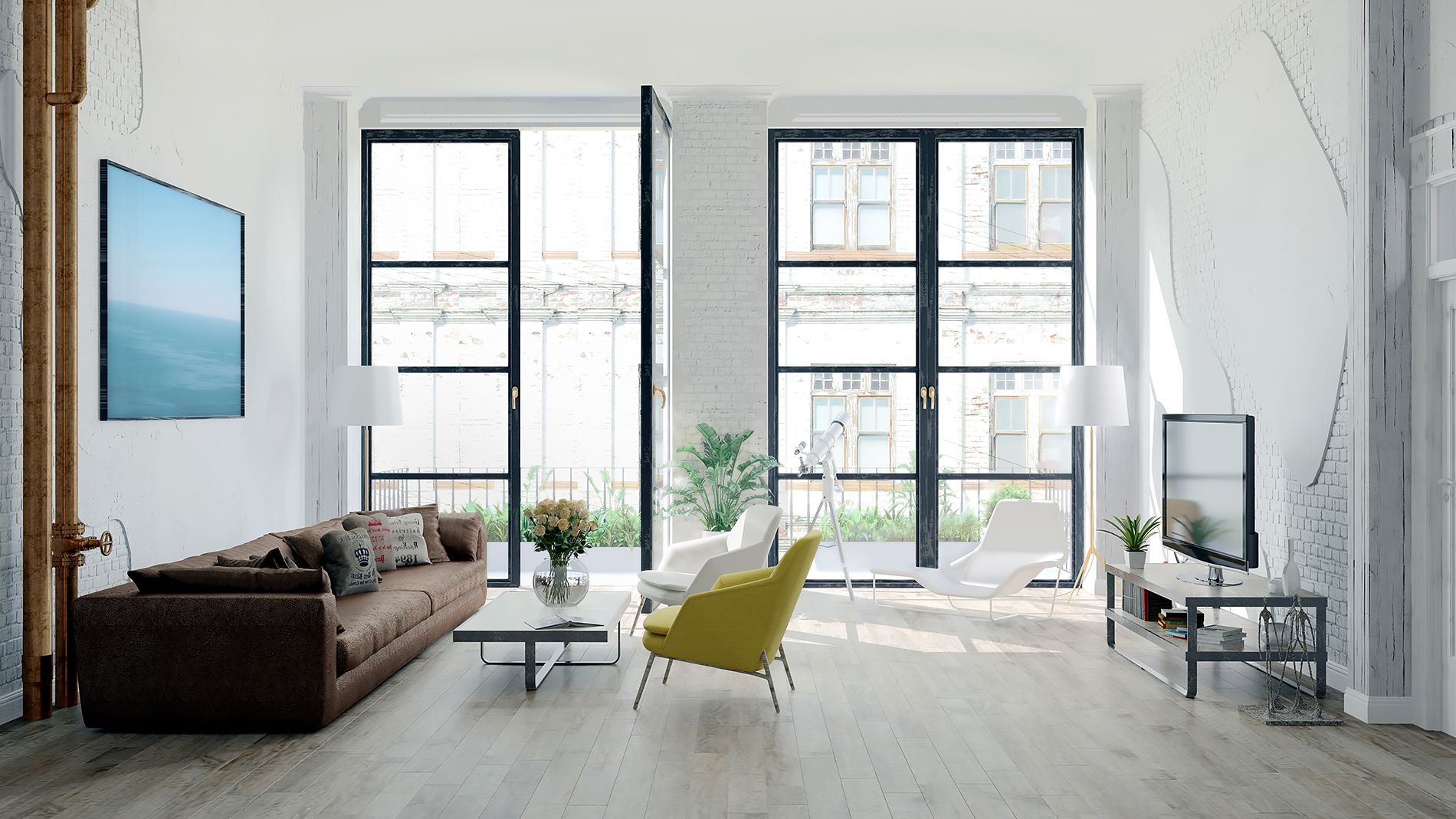 Nyc Loft Apartment Staged For